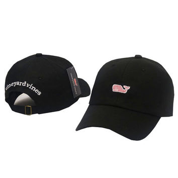 Whale Embroidered Black Strapback Golf Casquette Southern Tide Fish Dad Baseball Cap Men Summer Hat Baseball Women Dolphin Cap