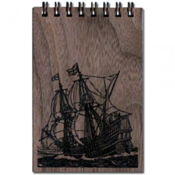 Wood Notepad Ahoy Small