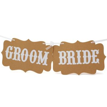 Photo Booth Paper Groom Bride Props Board Party Favor Hanging Stick Photography Decoration Words Cards Photocall For Wedding