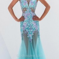Embroidered Tulle Prom Gown by Tony Bowls Le Gala