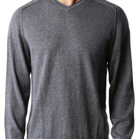 PREMIUM Mens Vintage Long Sleeve V Neck Soft Knit Pullover Sweater