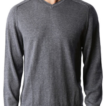 LE3NO PREMIUM Mens Vintage Long Sleeve V Neck Soft Knit Pullover Sweater