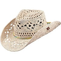 Peter Grimm Ltd Women's Ariel Natural Straw Cowgirl Hat Natural One Size