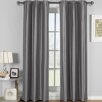 GRAY Soho Grommet Thermal coating Blackout Window Curtain Panel (Single Panel)