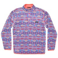 Dorado Fleece Pullover in French Blue and Peach by Southern Marsh - FINAL SALE