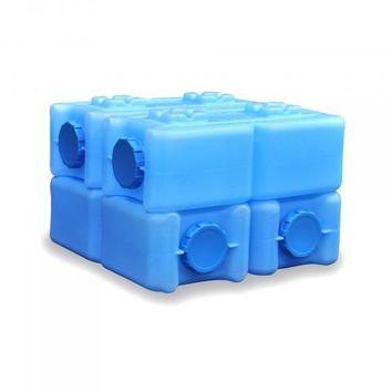 4 Stackable Water Storage Containers - 14 Gallons