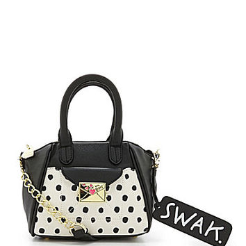 Betsey Johnson Kiss Marks The Spot Polka Dot Cross-Body Bag - Cream