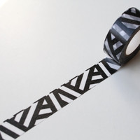 Black Chevron Washi tape/ Pattern Planner Scrapbooking Craft tape