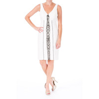 Sue Wong Womens Ruched Beaded Cocktail Dress