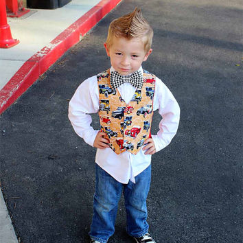 Little Boys Vest, Boys First Birthday, Toddlers Boys Vest, Photo Prop for Boys, ring bearer, baby boy clothes