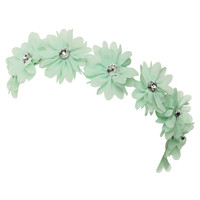 Chiffon Flowers Crown Headwrap | Shop Accessories at Wet Seal