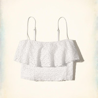 Girls Ruffle Eyelet Crop Top | Girls Dresses & Rompers | HollisterCo.com