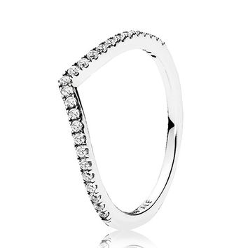PANDORA SHIMMERING WISH CLEAR CZ RING