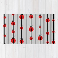 Lady Bug Beads Rug by UMe Images