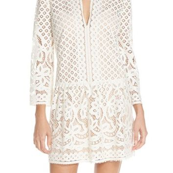 BCBGMAXAZRIA 'Laurice' Lace Drop Waist Dress | Nordstrom
