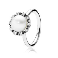 PANDORA Everlasting Grace Pearl Ring - Size 7.5