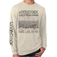 Unisex Woodstock Poster Long Sleeve Tee Shirt