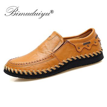 Fashion Men Shoes Moccasins Flats Male Breathable Driving Shoes Men Leather Casual Boat Shoes