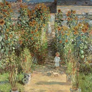 The Artist's Garden at Vetheuil by Claude Monet Fine Art Print