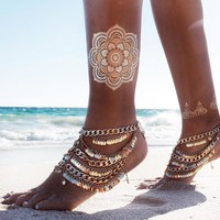 Cute Ladies Gift Jewelry New Arrival Sexy Shiny Stylish Accessory Summer Vintage Punk Tassels Anklet [7240985159]