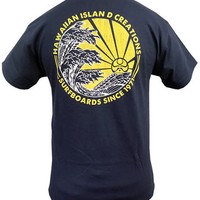 Shop HIC 3 Wave Sunset S/S Tee in Navy   Jack's Surfboards