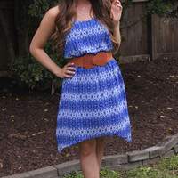 Cobalt Arrow Print Dress