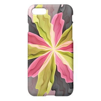 No Sadness, Joy, Fantasy Flower Fractal Art iPhone 7 Case