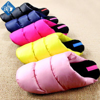 New 2016 Winter Warm Down Cotton Indoor Slippers Couple Home Slipper Pantuflas Cotton-padded Pantufa Terlik Shoes Women Men