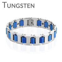Fearless Blue -  Cool Appearance To Your Wrist Tungsten Carbide Bio Magnetic Bracelet