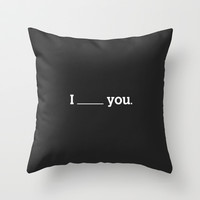 NO FEELING IS PERMANENT Throw Pillow by WRDBNR