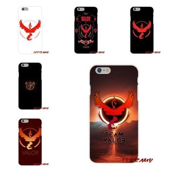 fashion pokemon go team valor For iPhone X 4 4S 5 5S 5C SE 6 6S 7 8 Plus Accessories Phone Cases Covers
