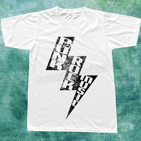 Bolt Punk Rock TShirts Punk TShirts White Tee Shirts Unisex TShirts Women TShirts Men TShirts