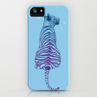 Tiger + Stars iPhone & iPod Case by Rachel Caldwell