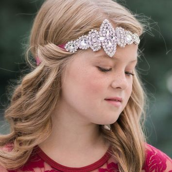 Isabelle Wine Crystal Jewel Headband