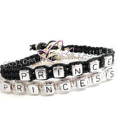 Prince Princess Couples Bracelets Boyfriend Girlfriend Bracelets Personalized Jewelry Personalized Bracelets for Lovers