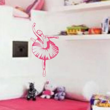Ballerina Decal Cute Dance Dancing Girl Teen Room Wall Mural