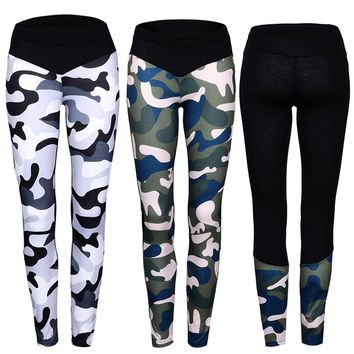 Women Sports YOGA Running Gym Fitness Leggings Pants Athletic Wear Trousers CAMO