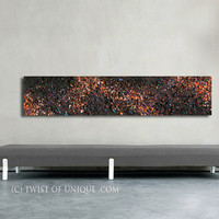 Orange Night sky abstract Painting / CUSTOM Painting ( 55 Inches x 12 Inches) / cosmos, milky way, stars, night sky, galaxy, space paintings