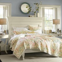 Bethany Paisley Whole Cloth Quilt & Sham
