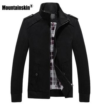 Trendy Mountainskin 4XL Men's Jackets Spring Autumn Coats Bomber Male Military Jacket Slim Fit Casual Coat Solid Brand Jacket SA468 AT_94_13