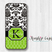 Damask Custom Monogram iPhone 4/4s Case,iPhone 5/5c/5s Phone Case,Monogram Samsung Galaxy s3/s4/s5,Samsung Galaxy note3 Cell Phone Cover
