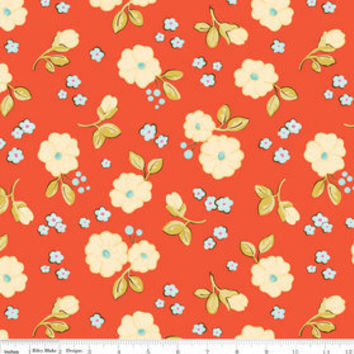 Calliope Floral Coral Riley Blake Designs One Yard