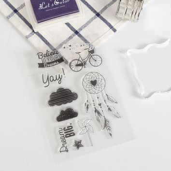 bicycle words Silicone clear stamps for Scrapbooking DIY album cards decoration Embossing folder rubber stamp