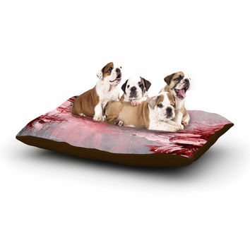 "Ebi Emporium ""Winter Dreamland 5"" Red Gray Dog Bed"