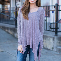 One More Time For Love Tunic, Mauve