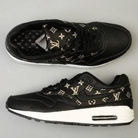 Supreme LV&Nike Air Max 90 LTR GS Women Men Sneakers Sport Shoes