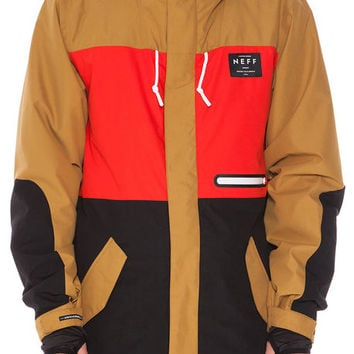 The Trifecta 2 Jacket in Tan, Red & Black