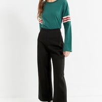 UO Tipped Striped Long Sleeve Tee   Urban Outfitters