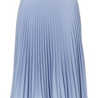 PETITE Pleated Midi Skirt - Pale Blue