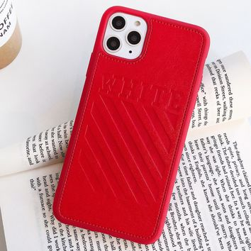 Off White New fashion letter couple protective cover phone case
